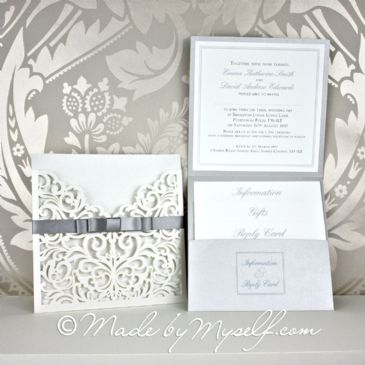 Sofia Pocketfold Wedding Invitation